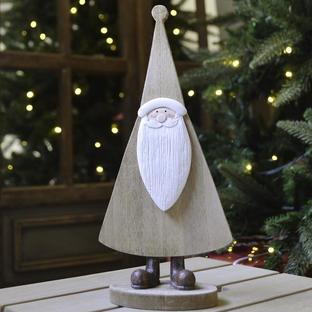 Natural Wooden Santa