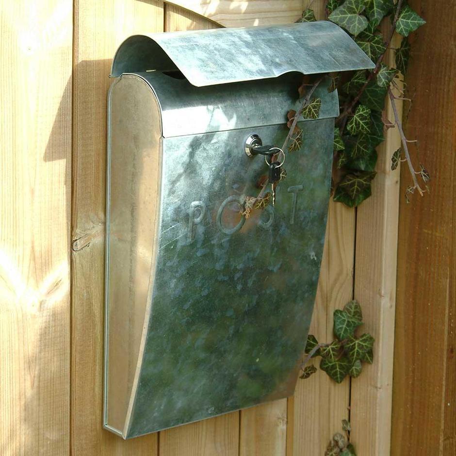 Galvanised Lockable Post Box