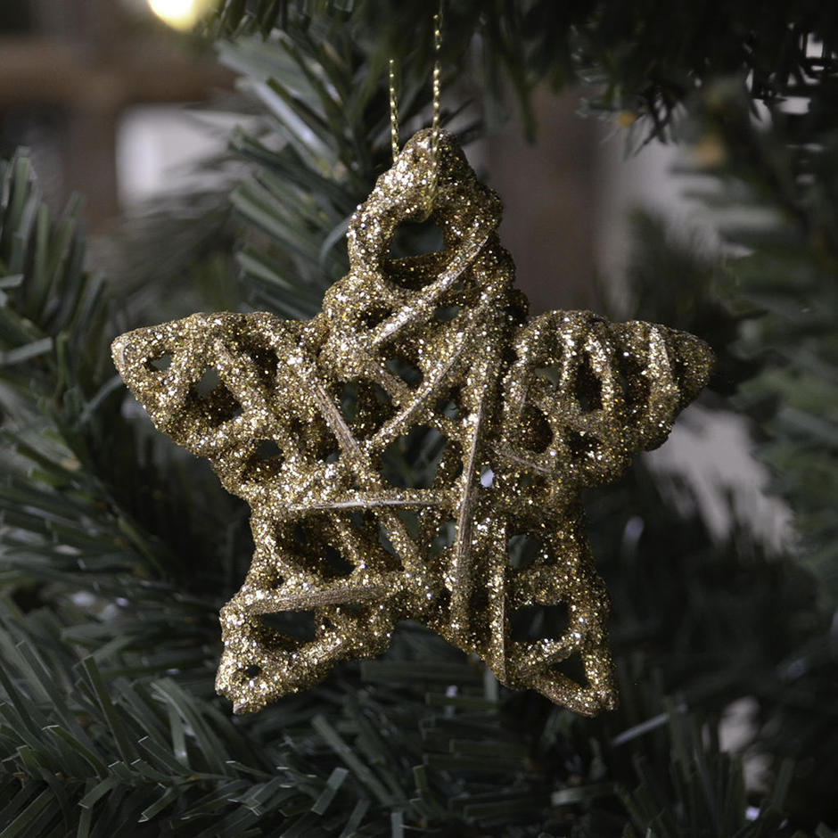 Hanging Glitter Star Decoration