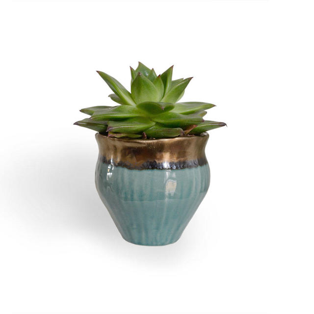 Buy gold copper indoor plant pots the worm that turned for Design indoor plant pots uk