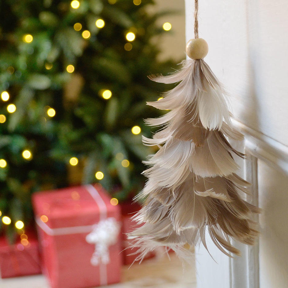 Hanging Feather Tree Decoration