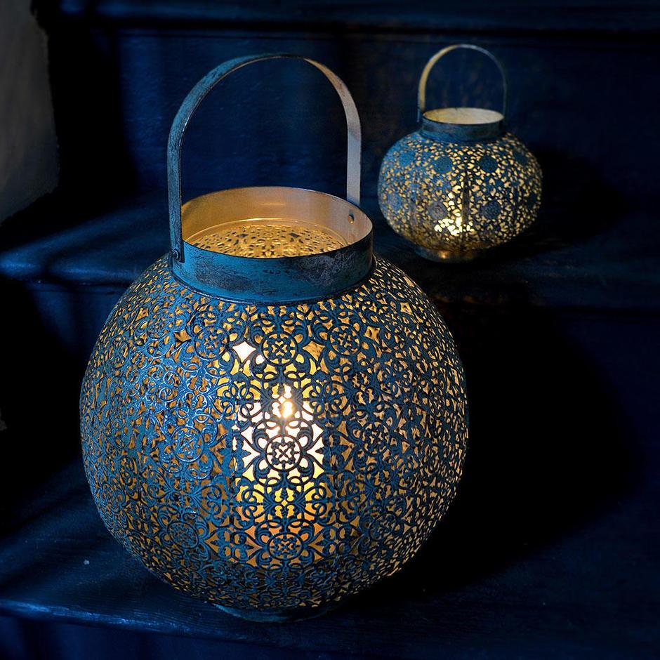 Verdigris Filigree Lantern