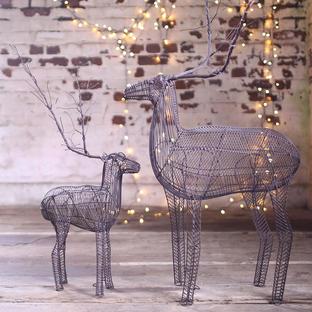 Rustic Wire Reindeers