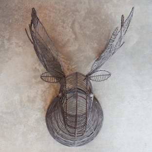 Rustic Wire Moose Head
