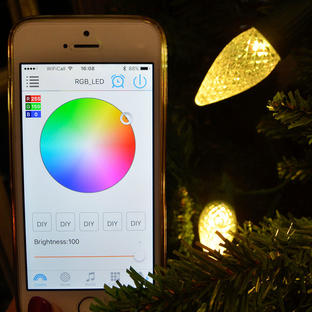 20 Outdoor Multicolour App Controlled Cone Fairy Lights