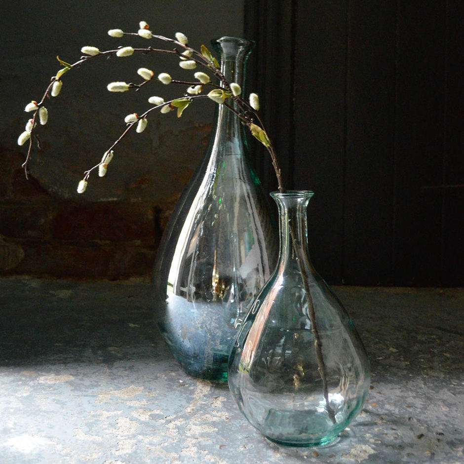 Recycled Glass Teardrop Vases