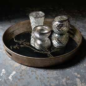 Antiqued Mirrored Tray