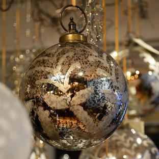 Giant Antiqued Baubles