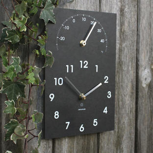 Recycled Clock / Thermometer