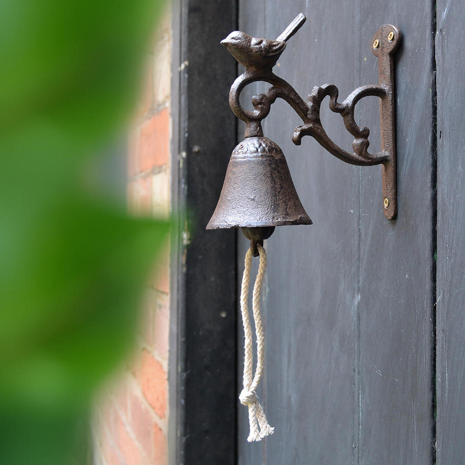 Cast Iron Doorbell with Bird
