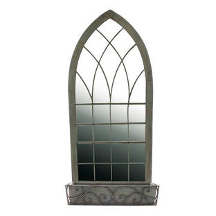 Gothic Garden Mirror with Planter