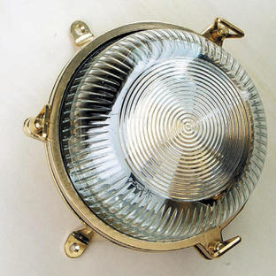 Patterned Glass Bulkhead Light