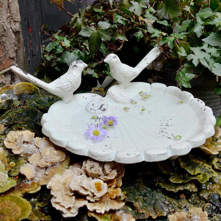 Vintage Style Cast Iron Bird Dish