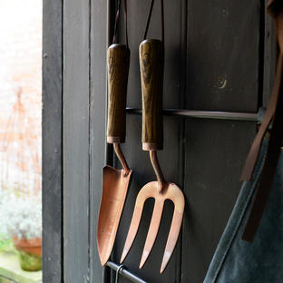 Copper Plated Fork and Trowel