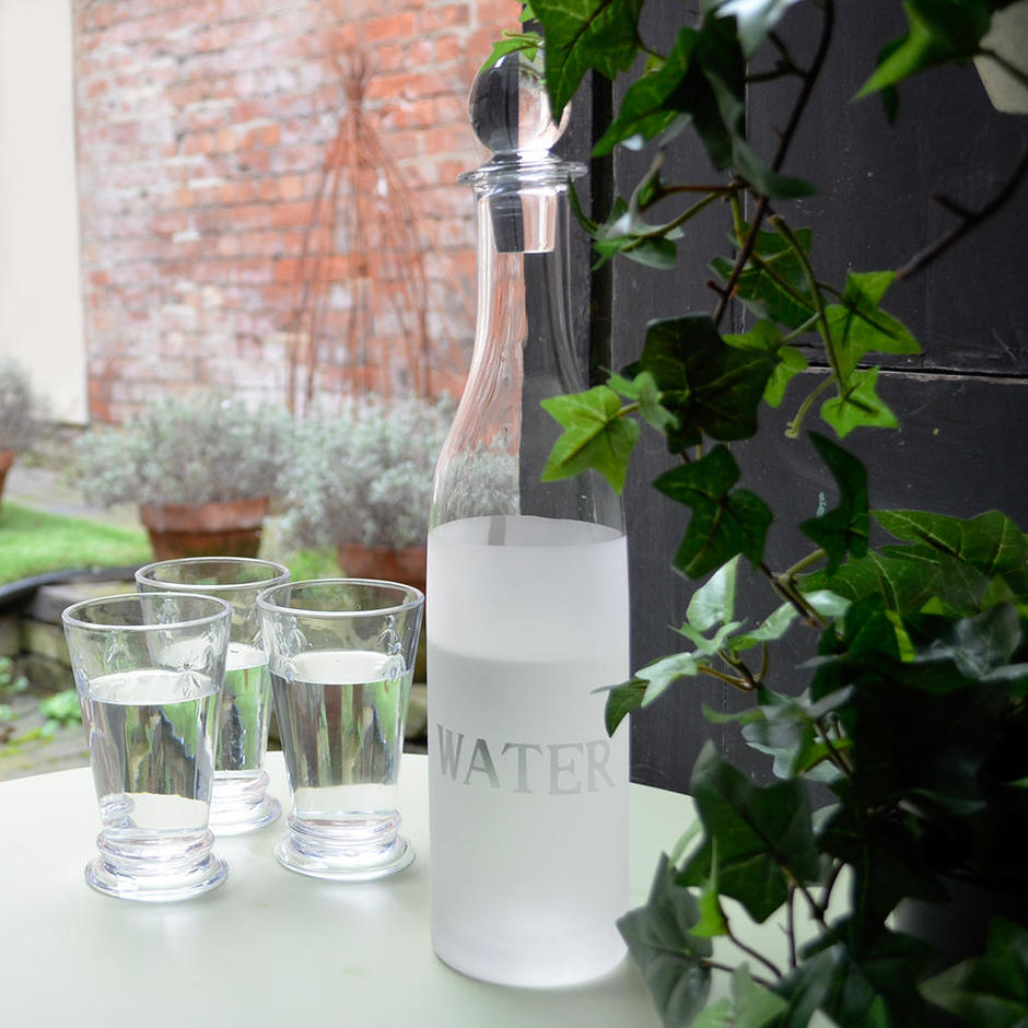 Frosted Glass Water Decanter