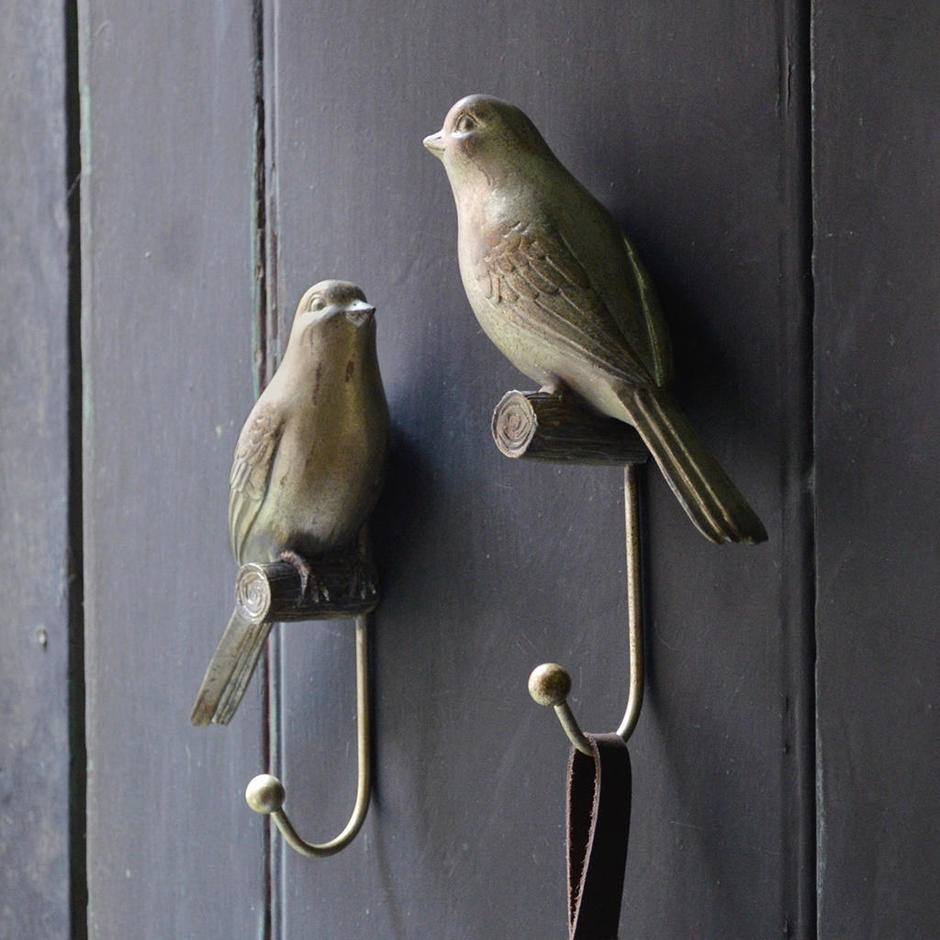 Antiqued Love Bird Coat Hooks
