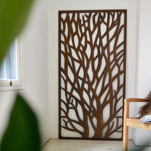 Rustic Metal Tree Screen