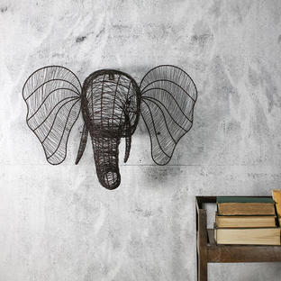 Rustic Wire Elephant Head
