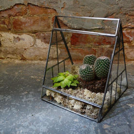 Antique Zinc Tent Terrarium