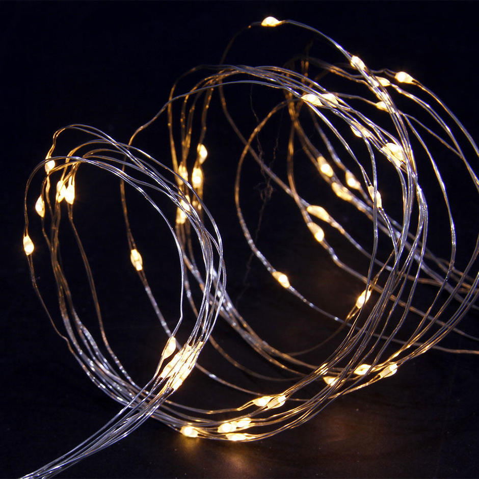 100 Solar Copper Wire LED String Lights