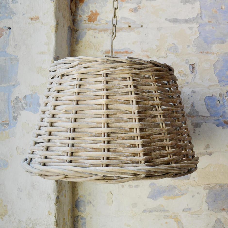 Randwick Grey Wicker Lampshades