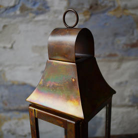 Burnished Copper Mini Lantern