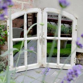 Shutter Styled Window Mirror
