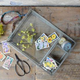 Antique Zinc Photo Box