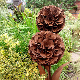Rusty Double Stem Flower