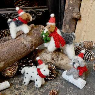 Christmas Dog Tree Decorations