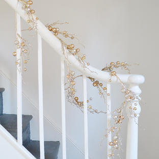 Gold Berry and Pearl garland