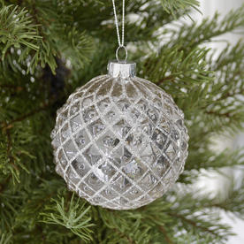 Embossed Glass Baubles