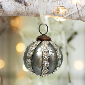 Smoked Glass Gem Bauble