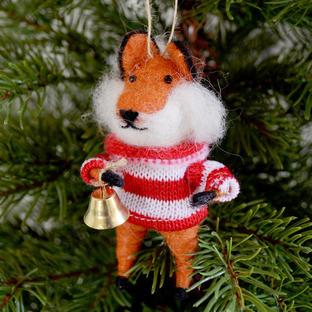 Festive Felt Foxes