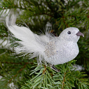 Show Stopper Silver Bird Decoration