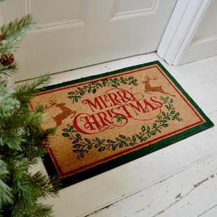Merry Christmas Coir Doormats