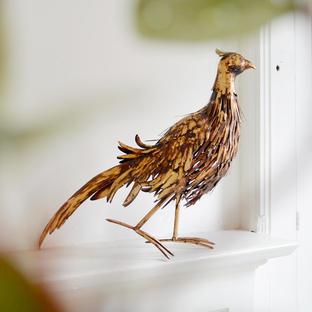 Bronzed Metal Pheasant