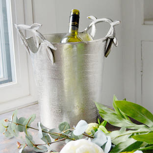 Olive Leaf Handled Wine Cooler