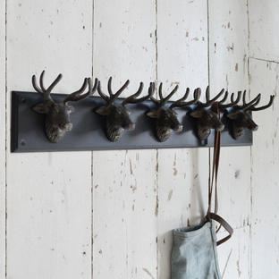 5 Stag Wall Hooks