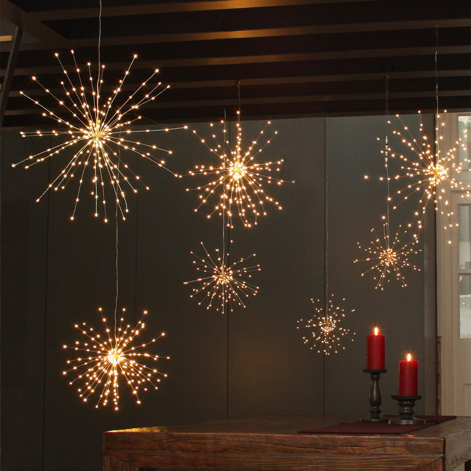 Copper Starburst LED Allium Outdoor Lights