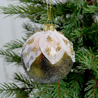 Enchanted Green Glass Baubles