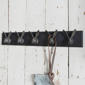 Antiqued 5 Hare Wall Hook