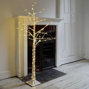 Indoor/Outdoor Silver Birch Pre-Lit LED Trees