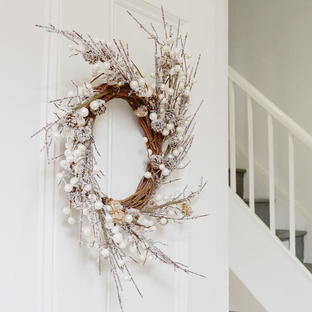 White Berry and Pearl Wreath