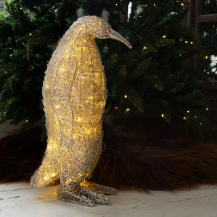 Beaded Crystal LED Penguin
