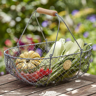 Large Grey Harvesting Basket