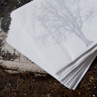 Silver Tree Paper Napkins