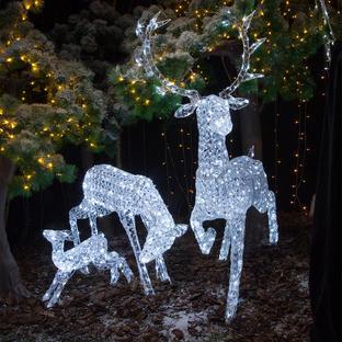 Jewelled Outdoor Deer Family