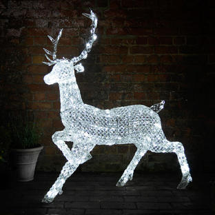 Jewelled Stag with 300 LED White Lights