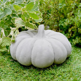 Decorative Cement Pumpkin